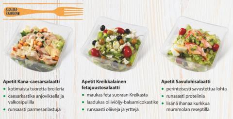 Apetit-ruokasalaatti - kolme makua