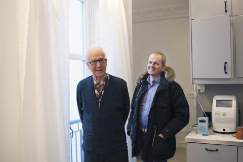 Far og sønn: Gunnar og Eldar Valde