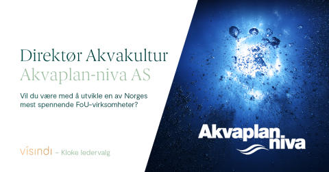 Stillingsannonse – Ny Direktør akvakultur, Akvaplan-niva