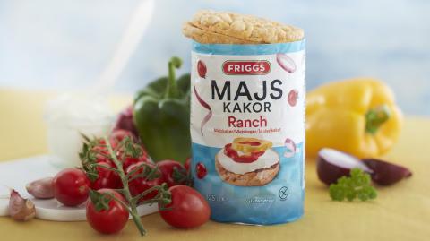 Friggs har Sveriges populäraste majskakor - nu lanseras den välkända smaken Ranch!