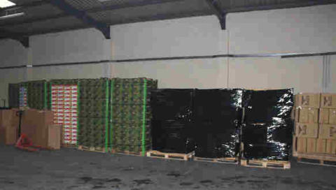 Op Quadrant Inside the warehouse