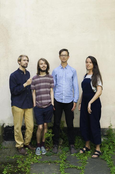 Daniel & Dundret: Daniel Garthon, Milton Öhrström, Johan Nilsson och Cornelia Nilsson. Foto: Marcus Boberg.