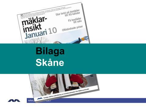 Mäklarinsikt januari 2010: Skåne