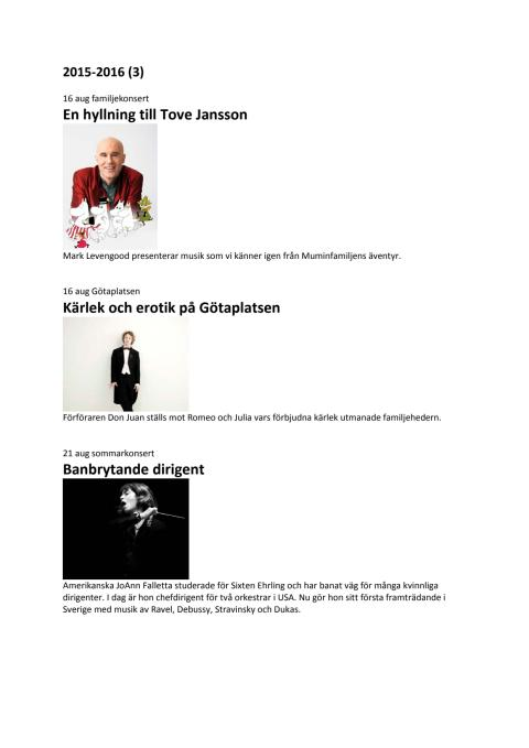Konsertlista 2014 2015 Göteborgs Symfoniker