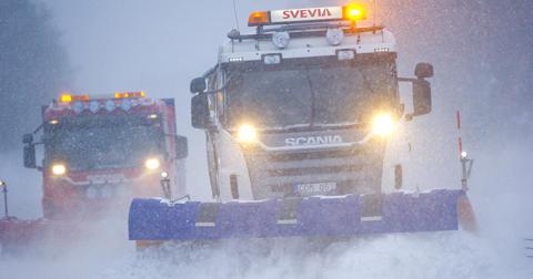 Svevia sköter om vägarna på Österlen