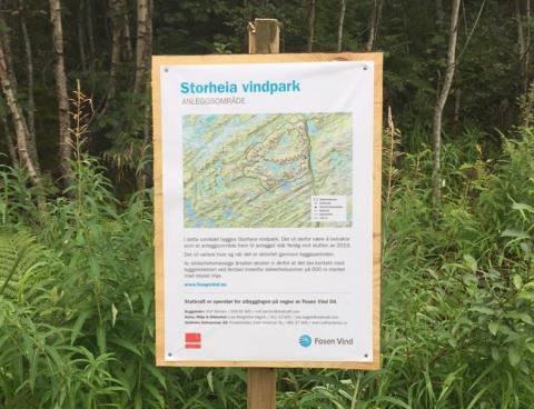 Ferdsel i utbyggingsområdet for vindparkene