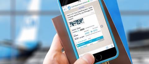 KLM når nya höjder med WhatsApp-tjänst