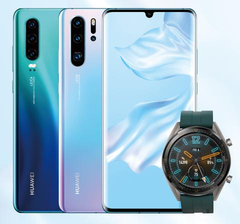 Huawei P30 and Watch GT