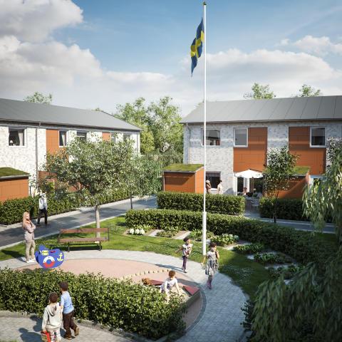 Hovås Herrgårdsväg - Nya radhus och lägenheter