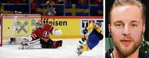 Ishockeyvärldsmästare Fredrik Pettersson på Arena Göteborg