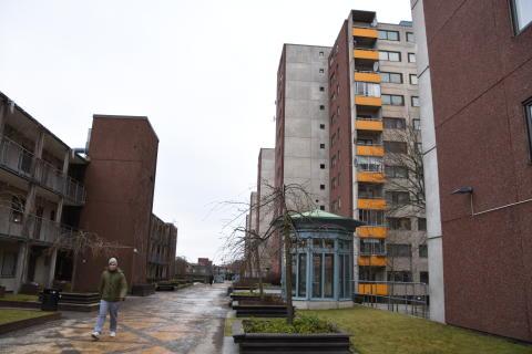 Krögarvägen 2 i Fittja är nominerat till Årets Bygge 2017.