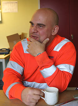 Stefan Andersson, Huvudskyddsombud på Abetongs Vislanda S-fabrik