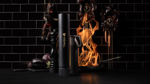 The first fire extinguisher designed to fit on the kitchen counter
