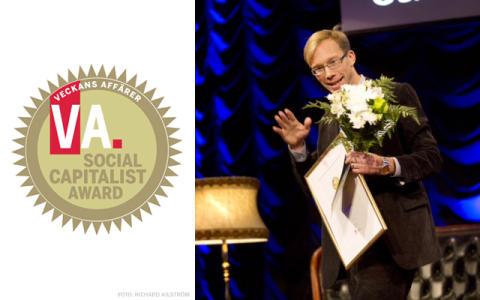 Kivras VD Stefan Krook utsedd till Årets Samhällskapitalist av Veckans Affärer