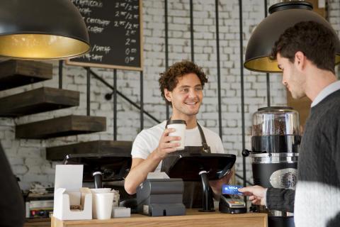 Paiement sans contact - Café