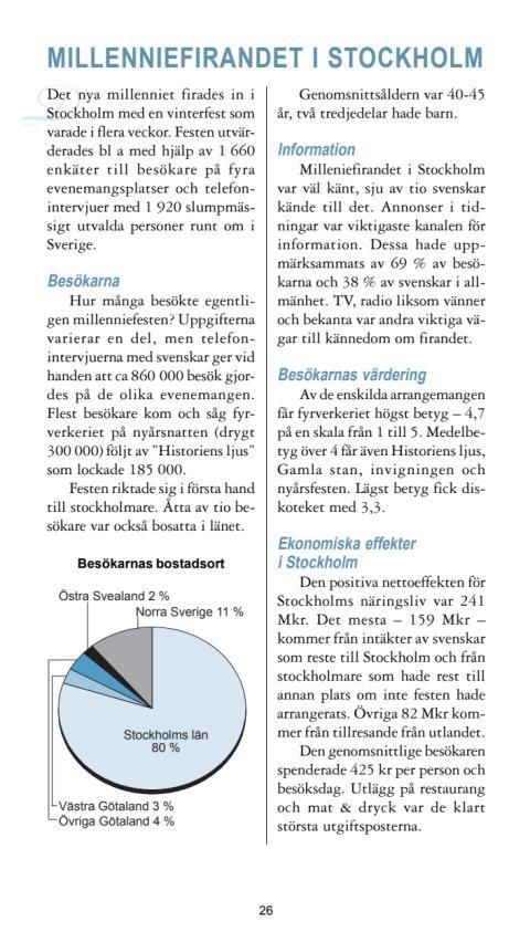 Rapport: Millenniumfirandet i Stockholm 2000