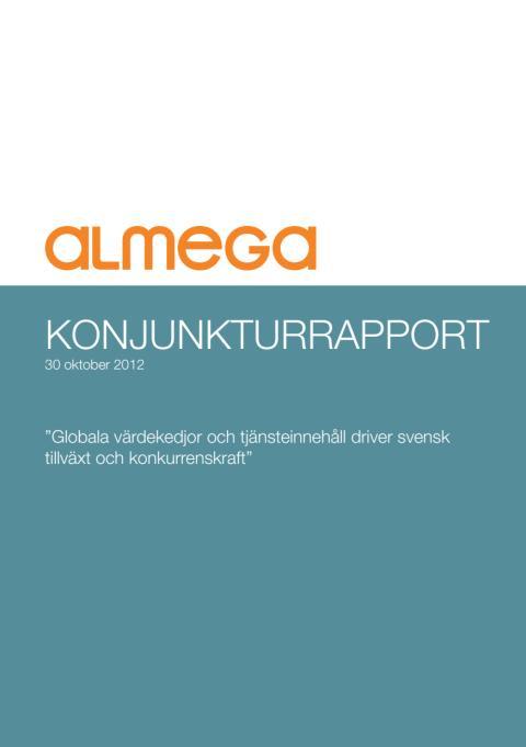 Sammanfattning av Almegas konjunkturprognos hösten 2012.