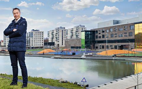 Norconsults Terje Hoel med foredrag om vannvei på Infrastrukturdagene_Teglverksdammen