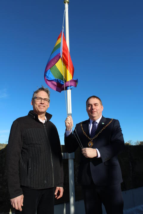 Rainbow flag hoisted to mark LGBT History Month