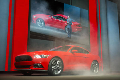Nye Ford Mustang lanseres i Europa i 2015.