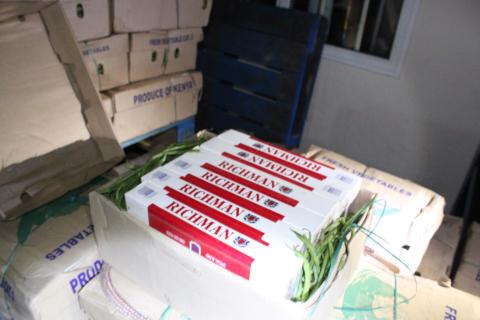 Op Bypass - Cigarettes hidden in vegetable consignment LON14/15