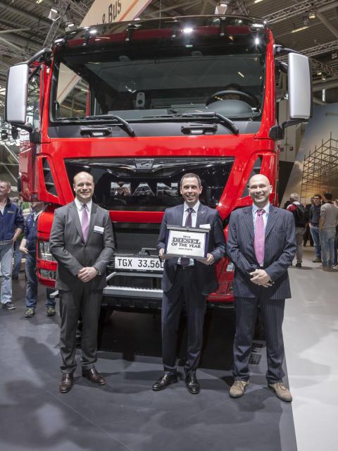 "Motoren MAN D3876 er ""Diesel of the Year 2016""."