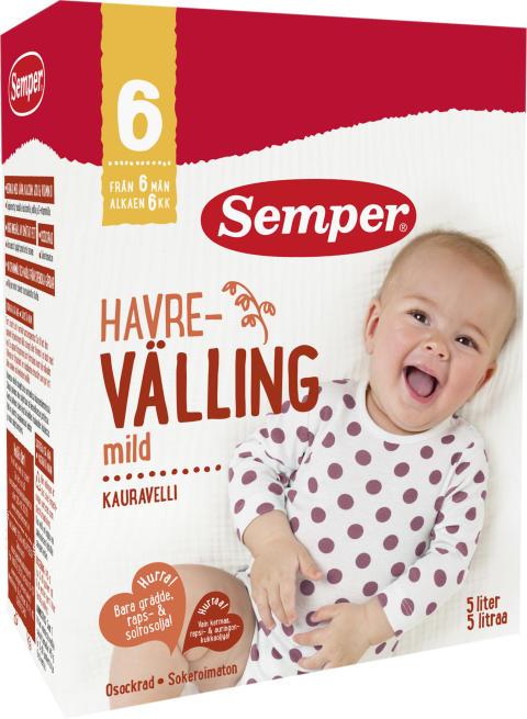 Nytt recept och ny design i Sempers vällingar och grötar