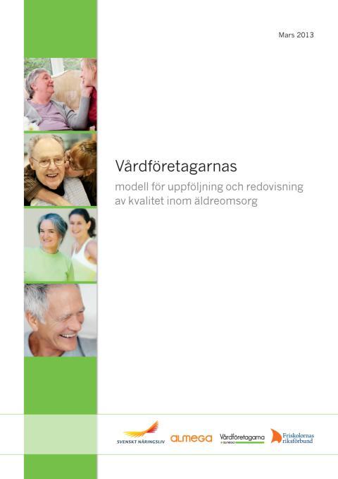 Vårdföretagarnas modell för uppföljning och redovisning av kvalitet inom äldreomsorg