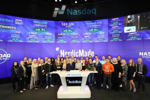 SUP46 rings Nasdaq Opening Bell in New York with NordicMade friends
