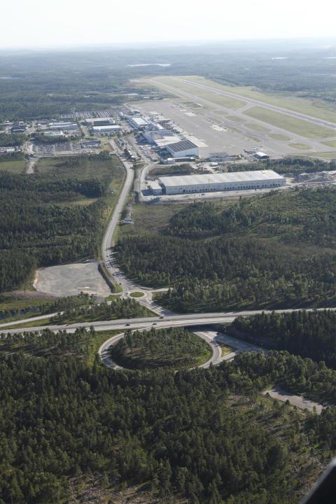 Flygbild, Göteborg Landvetter Airport