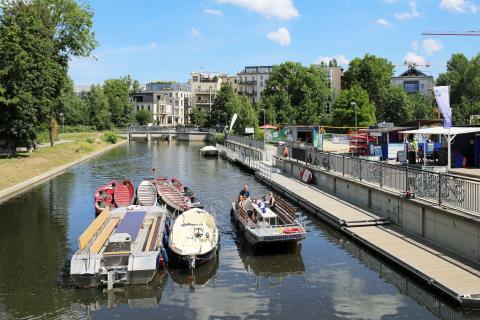 Start der Bootstour am Stadthafen Leipzig