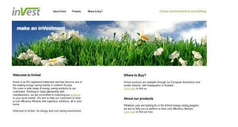www.investliving.com - InVest Energi & Miljö lanserar ny sajt internationell sajt