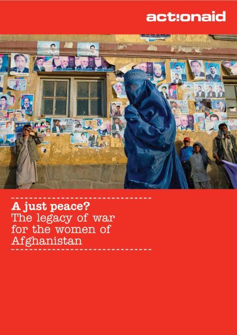 A just peace? Rapport från ActionAid om livet som kvinna i Afghanistan