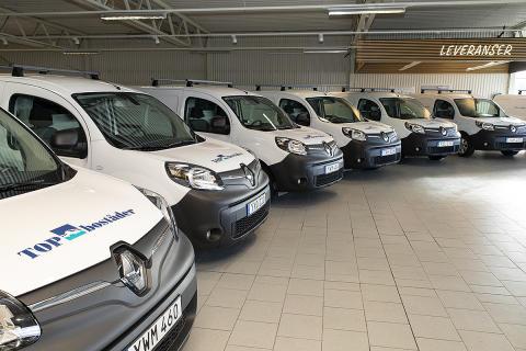 Renault levererar fossilfria bilar till TOP bostäder