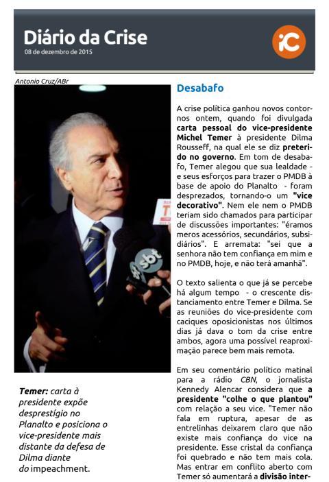 Diário da Crise - 08.12.2015