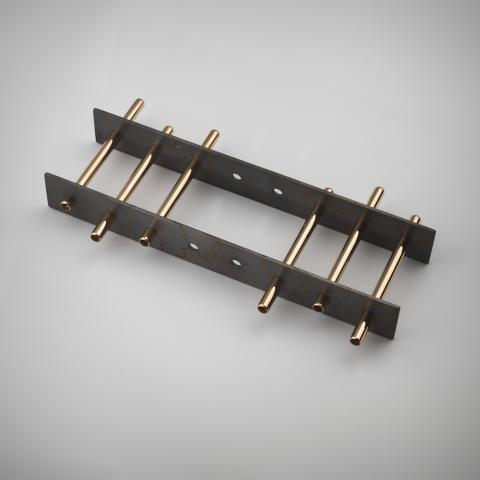 """Mikael Kalling (f. 1953) """"Längtan till frihet"""". Armband i kombination med collier. Guld 18 K, titan grade2, madeira citrin, onyx."""