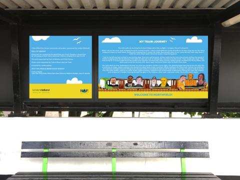 Northfield station community artwork and My Train Journey poem