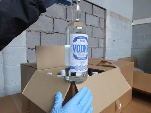 HMRC seize fake vodka in Aintree, Liverpool