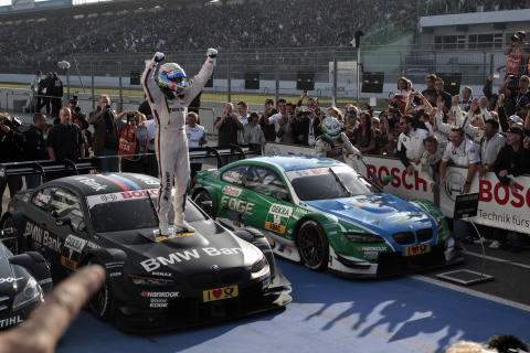 BMW Motorsports and Castrol EDGE Celebrate Debut Season Victory