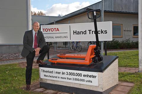 Tre miljoner svensktillverkade lyftvagnar - BT Lifter