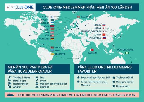 2.5 miljoner medlemmar i Tallink och Silja Lines Club One