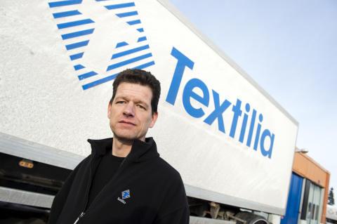 Abraham Janssen, transport- och underhållsansvarig Textilia Örebro