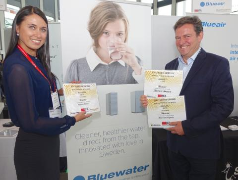 Bluewater Spirit Water Purifier Wins Prestigious International Innovation And Design Award At Europe's Biggest Tech Show, IFA Berlin 2015