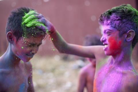 Holi Festival auf Mauritius