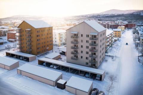 HSB bygger 46 bostadsrättslägenheter i brf Laestadiusparken i Gällivare
