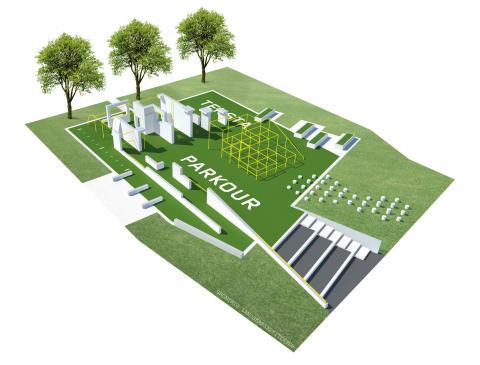 TENSTA PARKOUR – unik anläggning för urban träningsform