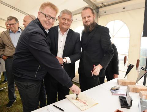 Horsens Havn:  Arkitektgruppen og Bech Gruppen fejrer milepæl på Havnefronten