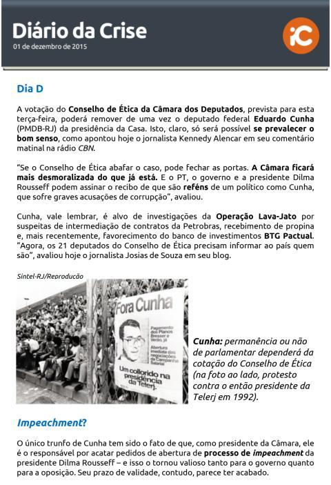 Diário da Crise - 01.12.2015