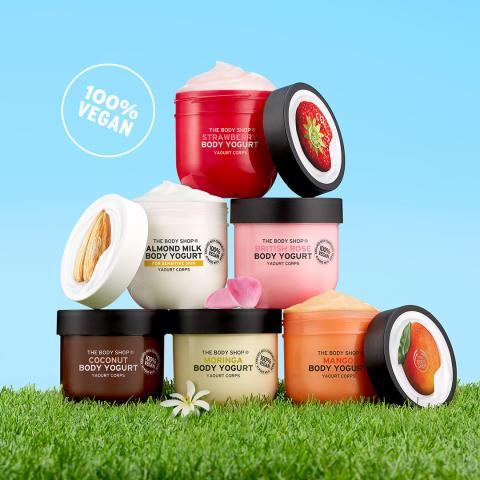 15 seconds to - The Body Shop lanserar snabbabsorberande Body Yogurt