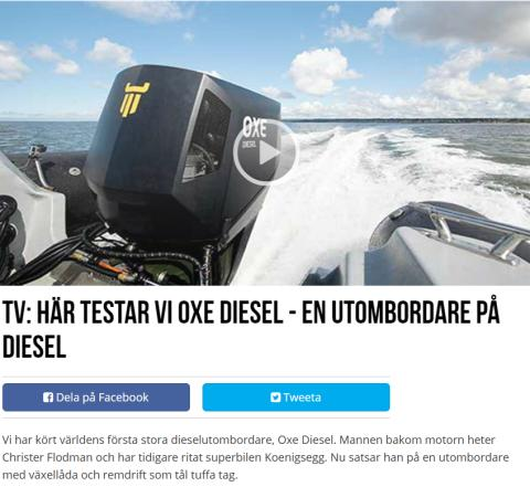 The Swedish Boat Site Livetombord.se Evaluates OXE Diesel